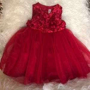 NWOT Cherokee 12M dress - Deep Red (Cranberry)